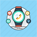 bluetooth smartwatch, fitness tracker, smartwatch android, wearable devices, wearable technology icon