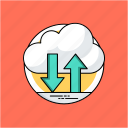 cloud backup, cloud computing, cloud data restore, cloud information, cloud storage icon
