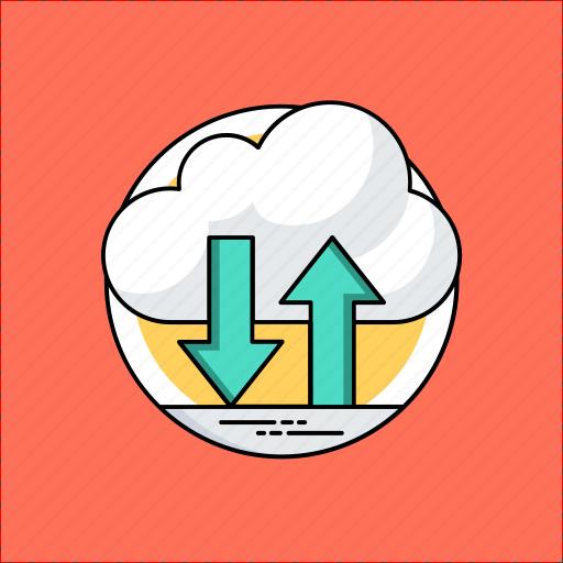 cloud backup, cloud computing, cloud data restore, cloud information, cloud storage icon