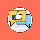 customer satisfaction, feedback, online evaluation, online reviews, positive feedback icon