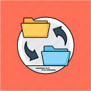 data conversion, data exchange, data migrate, data transfer, file synchronization icon