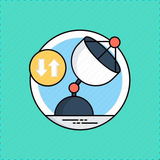 satellite communication, wireless connection, wireless data connection, wireless internet, wireless network icon