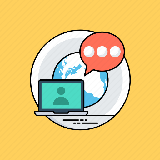 communication over internet, online chat, online communication, video chat, web-conferencing icon