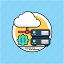 cloud computing, cloud drive, cloud storage, data storage, database icon