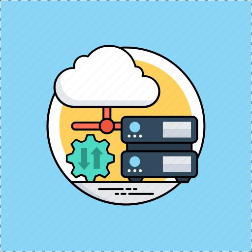cloud computing, cloud drive, cloud storage, data storage, database icon