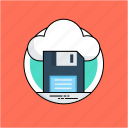 cloud computing, cloud drive, cloud storage, data storage, online data icon