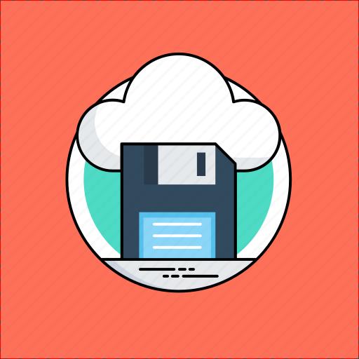 cloud computing, cloud drive, cloud storage, data storage, online data icon