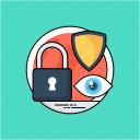 cyber security, information security, internet security, online security, password protection icon