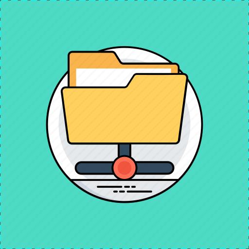 connected folder, folder access, network folder, online directory, shared folder icon