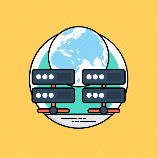 communication network, global database storage, global internet, global network, world wide web icon
