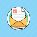 e-message, email, marketing, sending email, web communication icon