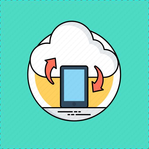 data restore, data sync, mobile data backup, mobile synchronization, mobile update icon