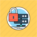 data integrity, data protection, data security, database security, server protection icon