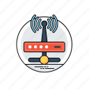 internet router, remote network, wireless connection, wireless internet, wireless network icon