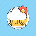 cloud computing, cloud configuration, cloud management, cloud network computing, cloud services icon