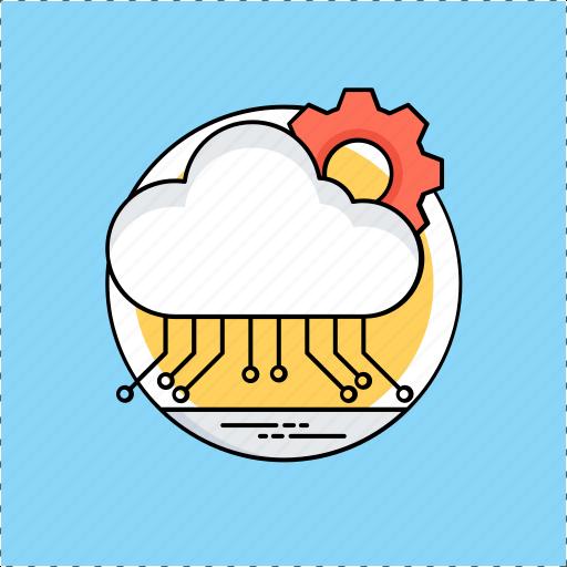 cloud computing, cloud configuration, cloud management, cloud network computing, cloud services icon