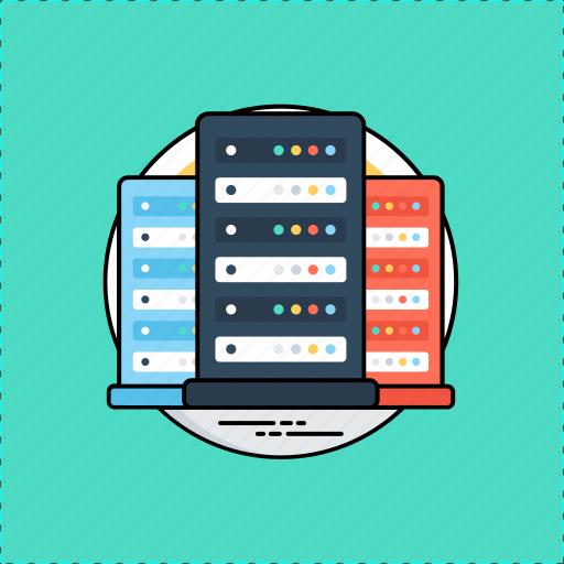 database, online information, server, web hosting, web server icon