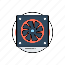 computer fan, computer hardware, cpu fan, hard-drive cooling, hardware icon
