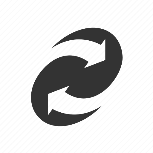 abstract, arrows, circle, curve, swirl, together icon