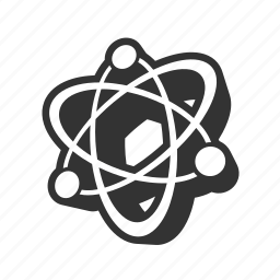 atom, atomic, charge, chemistry, compound, electric, electron, element, model, molecule, nuclear, orbit, science icon
