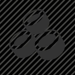 abstract, circles, rings, tubes icon