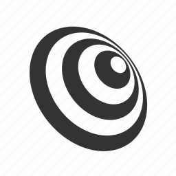 abstract, circles, disk, oval, stripes icon