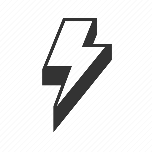 abstract, bolt, electricity, energy, lightning, power, strike icon