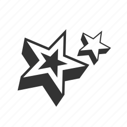abstract, stars icon