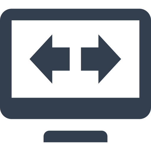 arrow, computer, exchange, expand, fulscreen, internet, monitor, network, screen, technology, web icon