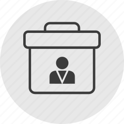 briefcase, business, professional, profile, user icon
