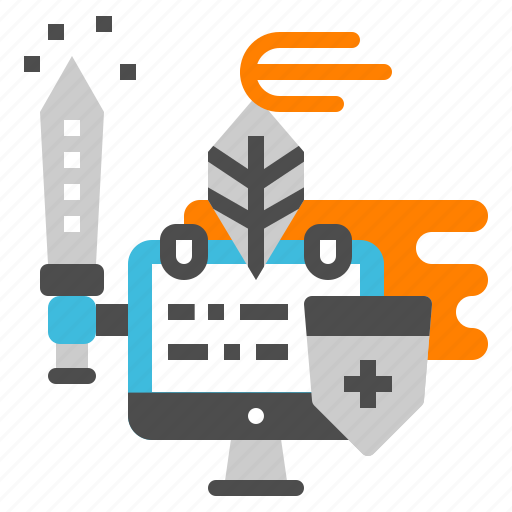 antivirus, knight, protect, security, virus, warrior icon