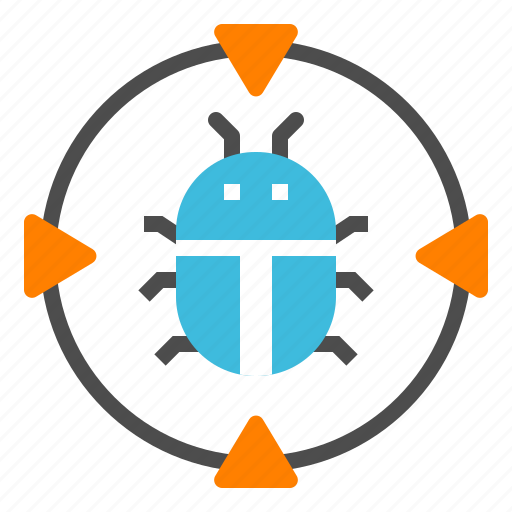 bug, computer, detected, trojan, virus icon