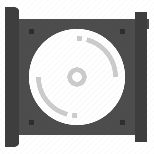 cd, disk, drive, music, player icon