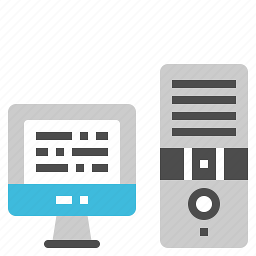 Communication, computer, monitor, desktop, cpu icon