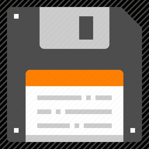 Floppy, storage, disk, computer, diskette icon