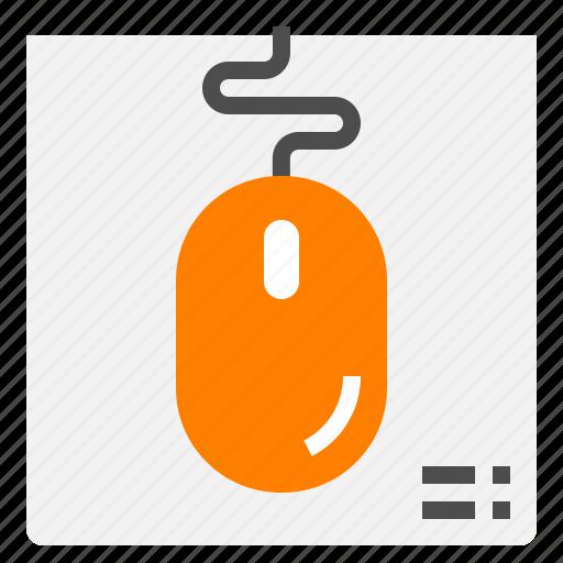click, computer, cursor, mouse, scroll icon