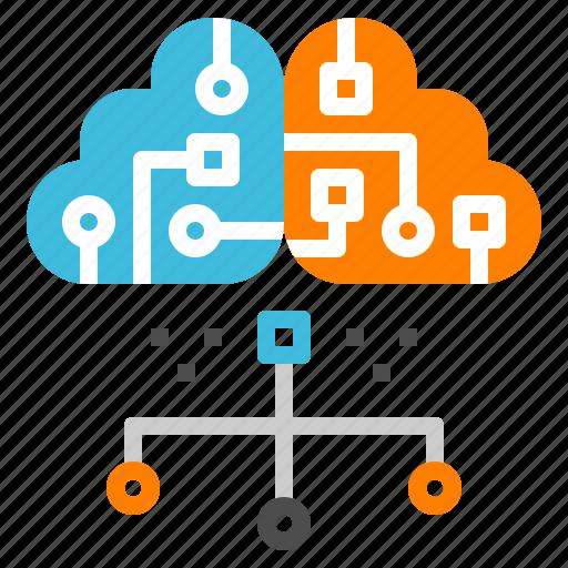 cloud, computer, connect, online, server icon