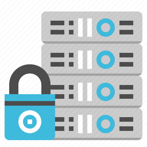 computer, database, mainframe, security, server icon