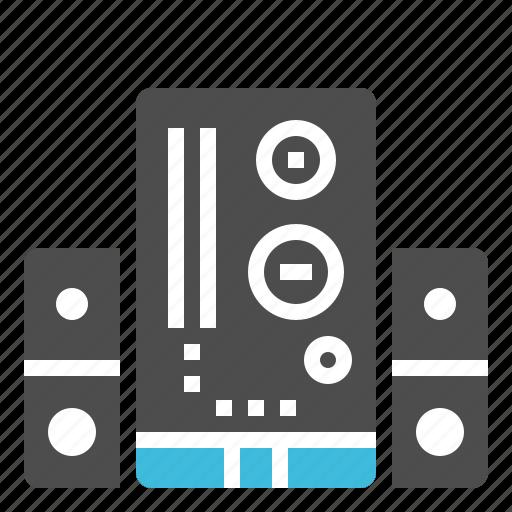 audio, loudspeaker, music, sound, subwoofer icon