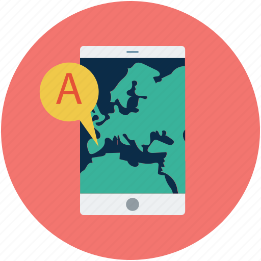 cell phone, gps, location, mobile, mobile phone, navigation, smartphone icon