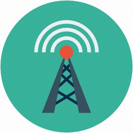 antenna, broadcasting, satellite, signals, wireless antenna icon