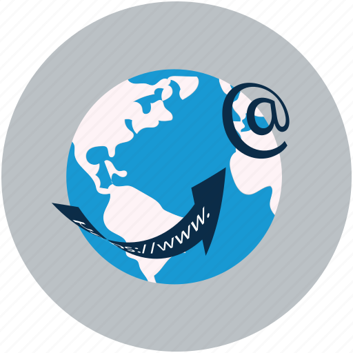 global, globe, url, webpage, website icon