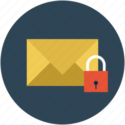 email, letter, locked mail, mail, post, postal mail, secure mail icon