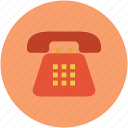 communication, landline, phone, telephone, telephone set icon