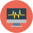 heart rate, heartbeat, lifeline, monitor, screen icon