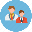 avatars, boys, doctor avatar, officer avatar, officers, young people icon