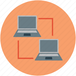 laptops, network, networking, notebooks, server icon