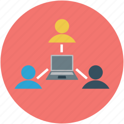 hierarchy, network, networking, server, team icon