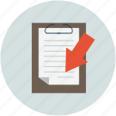 clipboard, documents, paperclip, papers, sheets icon
