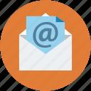 arroba, email, envelope, letter, mail, post, postal mail